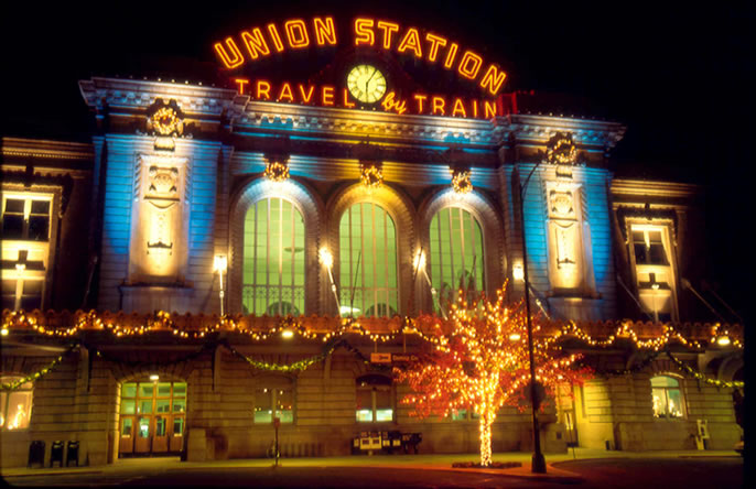 Lights on Union Station