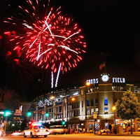 Fireworks over Coors Field