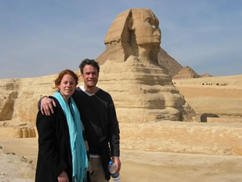 Heidi and Chris with Sphinx